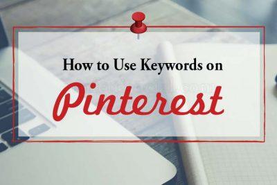 Keywords on Pinterest